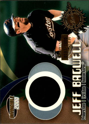 Photo of 2000 Pacific Invincible Game Gear #1 J.Bagwell Jsy/1000