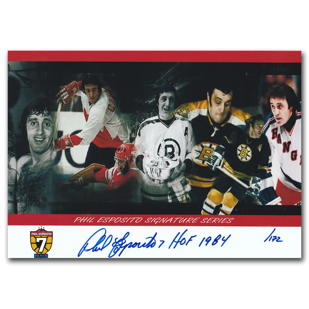 Phil Esposito Autographed Limited-Edition Commemorative 8X11 Photo w/HOF 1984 Inscription