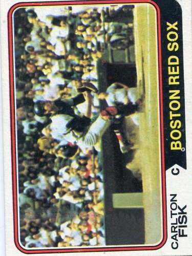 Photo of 1974 Topps #105 Carlton Fisk Hall of Famer