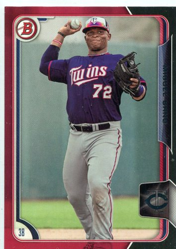 Photo of 2015 Bowman Prospects Black-Red Asia #BP33 Miguel Sano