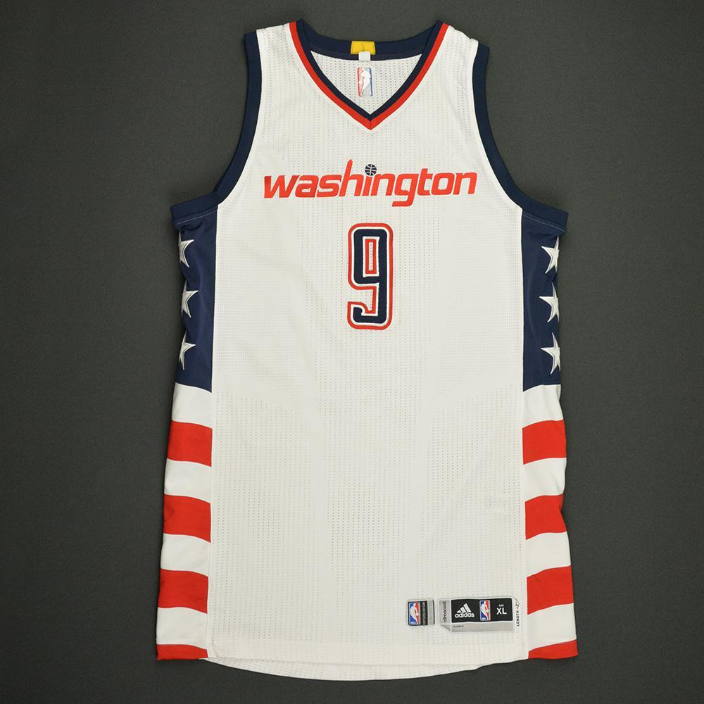 Sheldon McClellan - Washington Wizards -White Playoffs Game-Worn Jersey - Dressed, Did Not Play - 2016-17 Season