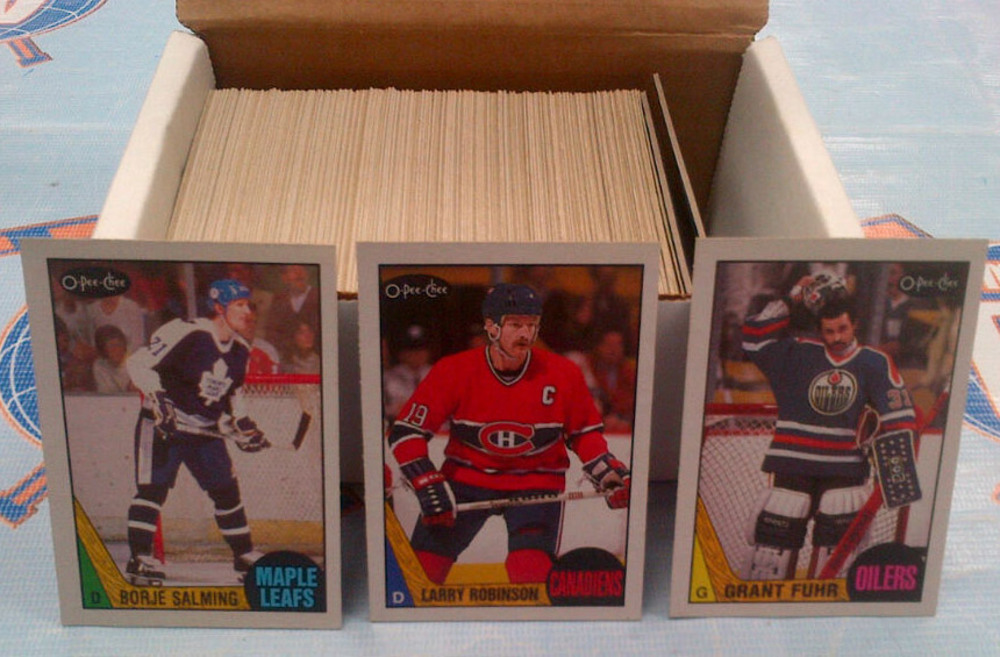 1987-88 OPC Partial Starter Set *OVER 200 NEAR MINT HOCKEY CARDS* *SALMING, ROBINSON, FUHR, ETC*
