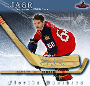JAROMIR JAGR Autographed KOHO Stick - Florida Panthers