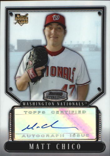 Photo of 2007 Bowman Sterling #MC Matt Chico AU (RC)