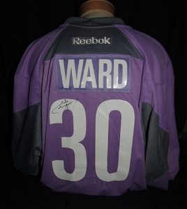Carolina Hurricanes Authentic Hockey Fights Cancer Cam Ward #30 Jersey