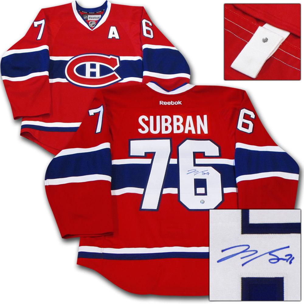 P.K. Subban Autographed Montreal Canadiens Authentic Pro Jersey (Nashville Predators)