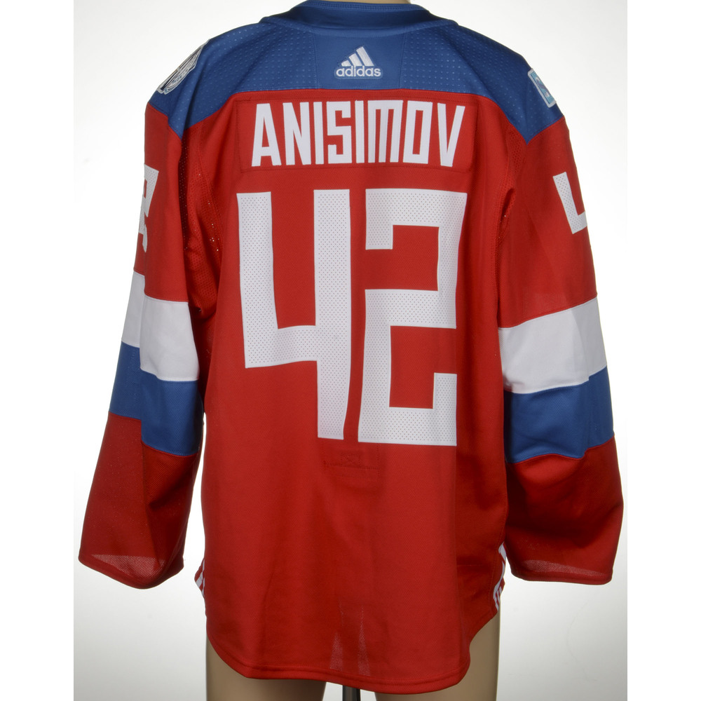 Artem Anisimov Chicago Blackhawks Game-Worn 2016 World Cup of Hockey Team Russia Jersey, Worn Against Team Finalnd On September 22nd