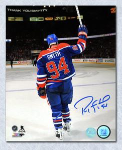 Ryan Smyth Edmonton Oilers Autographed Last Game Farewell Salute 16x20 Photo