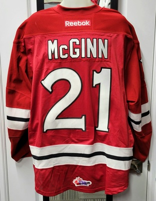 Brock McGinn #21 12/13 Game Worn Jersey