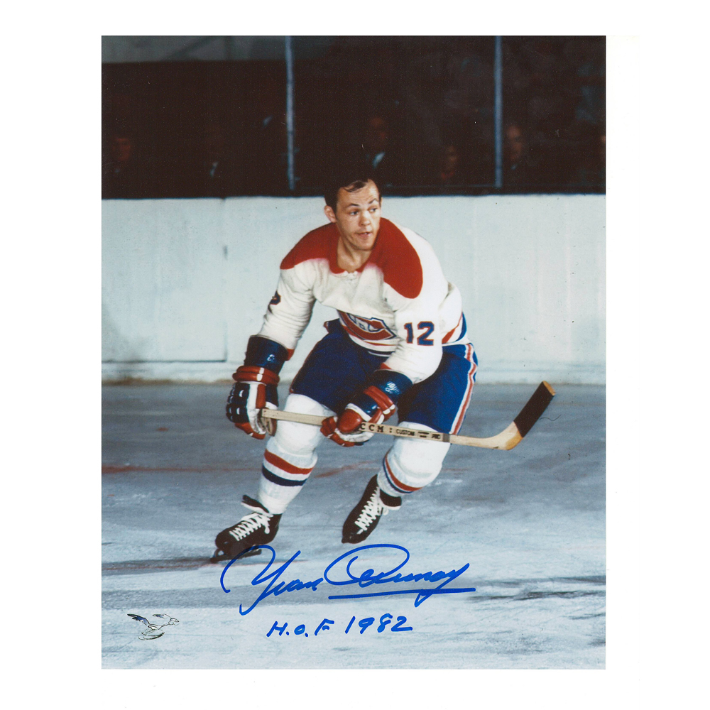 YVAN COURNOYER Signed Montreal Canadiens 8 X 10 Photo - 70227