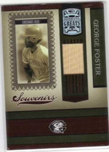 Photo of 2005 Donruss Greats Souvenirs Material Bat #6 George Foster T5