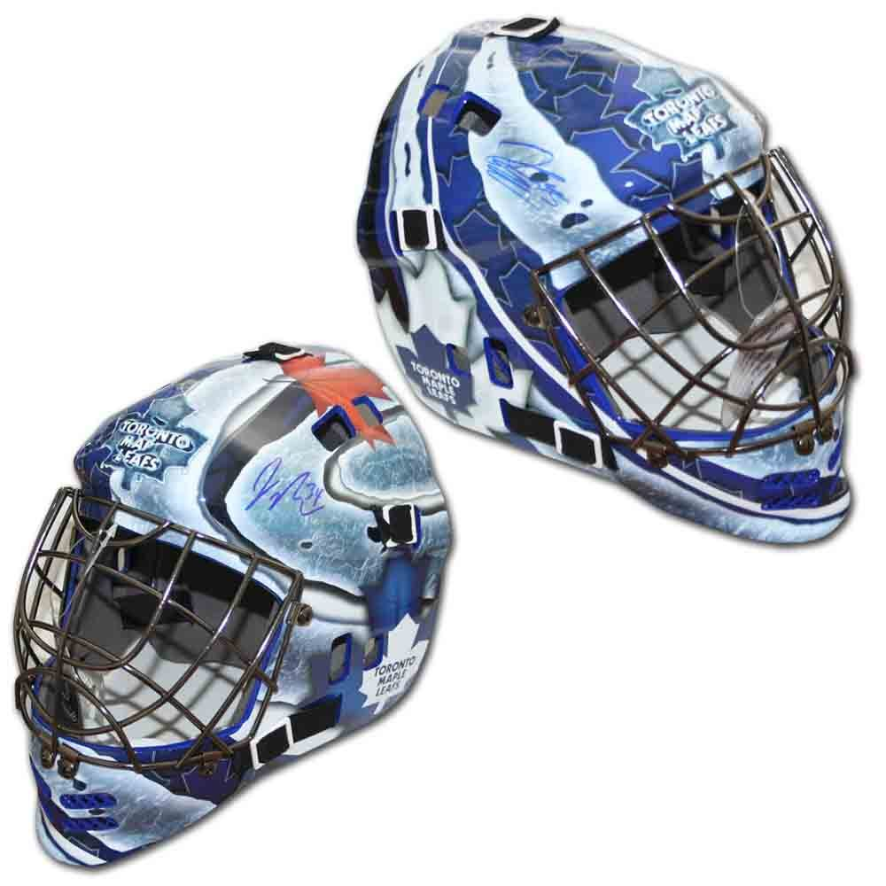 Jonathan Bernier & James Reimer Autographed Toronto Maple Leafs Replica Goalie Mask