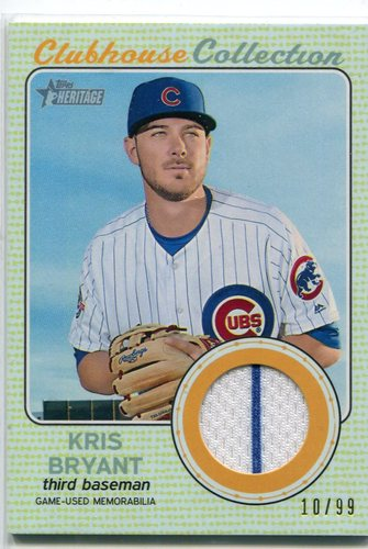 Photo of 2017 Topps Heritage Clubhouse Collection Relics Gold #CCRKB Kris Bryant