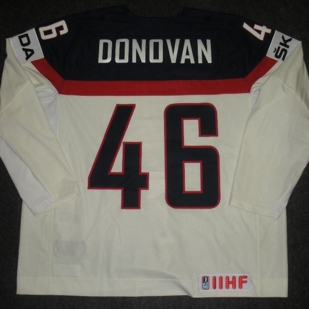 Matt Donovan - 2014 IIHF Mens World Championship - Team USA White Game-Worn Jersey - Worn on 5/9/14, 5/15/14 and 5/20/14