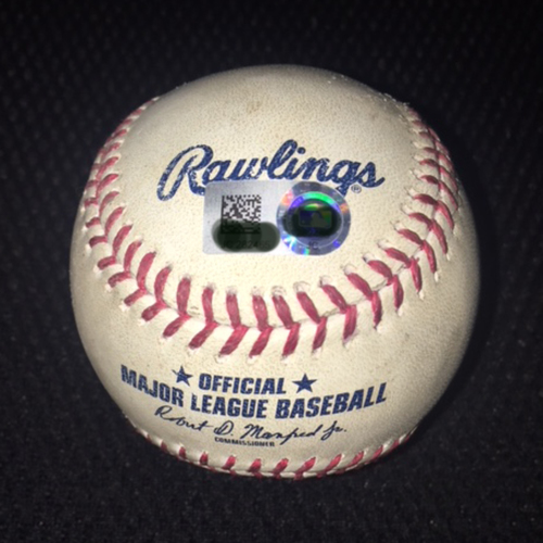Game-Used Baseball from September 23, 2017: Jose Abreu achieves 25-plus home runs and 100-plus RBIs