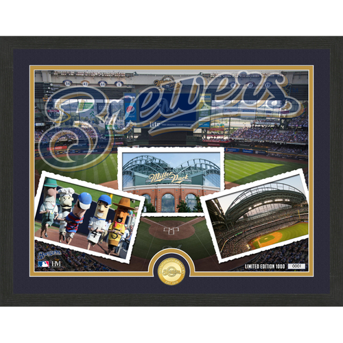 "Photo of Milwaukee Brewers ""Team Pride"" Bronze Coin Photo Mint - MLB.com Auctions Exclusive"