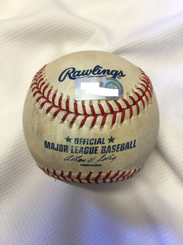 Photo of Game-Used Baseball: Derek Jeter All-time Hits Leader at Shortstop (2674) Passing Luis Aparicio - August 16, 2009 at Safeco Field