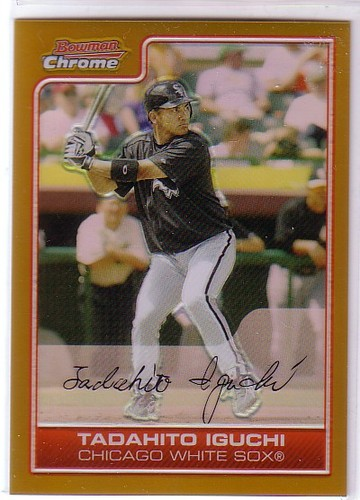 Photo of 2006 Bowman Chrome Gold Refractors #110 Tadahito Iguchi