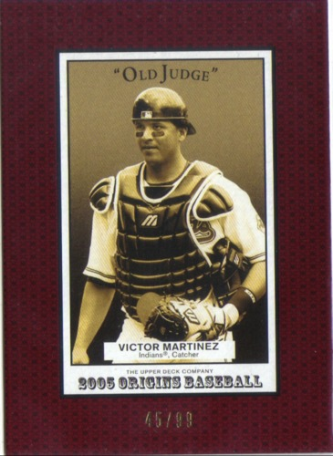 Photo of 2005 Origins Old Judge Red #29 Victor Martinez
