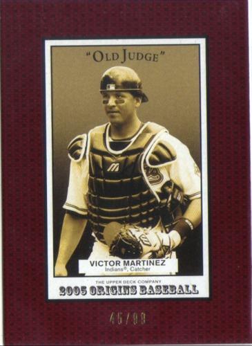 Photo of 2005 Origins Old Judge Red #29 Victor Martinez