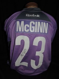 Carolina Hurricanes Authentic Hockey Fights Cancer Brock McGinn #23 Jersey