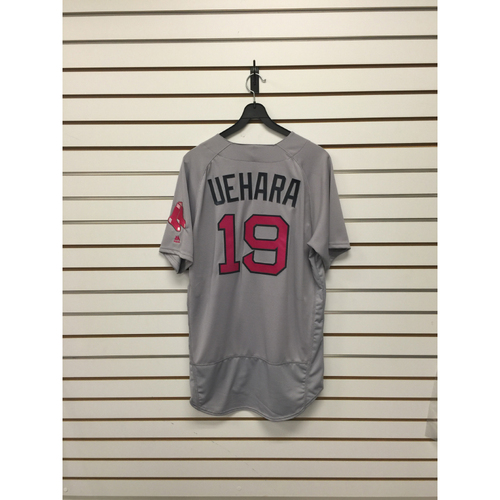 Photo of Koji Uehara Game-Used 2016 Mother's Day Road Jersey
