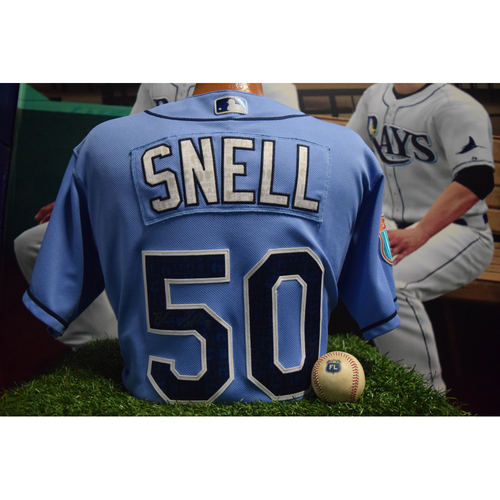 Photo of Autographed Spring Training Jersey: Blake Snell
