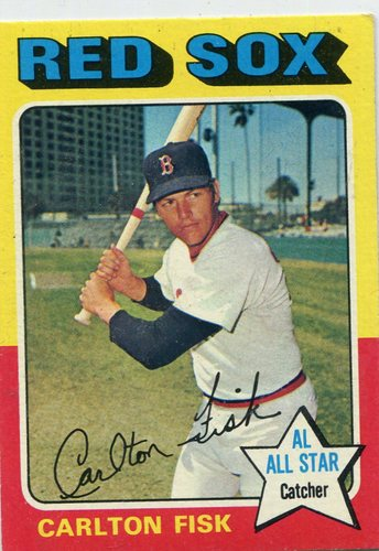 Photo of 1975 Topps #80 Carlton Fisk Hall of Famer