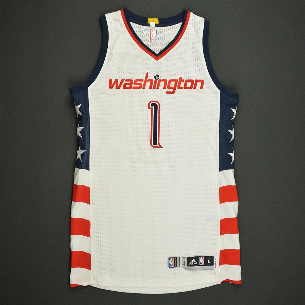 Chris McCullough - Washington Wizards -White Playoffs Game-Issued Jersey - 2016-17 Season