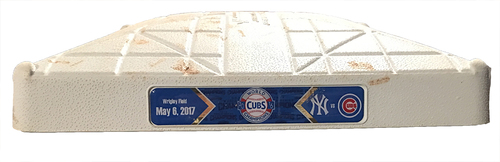 Photo of Game-Used 3rd Base -- Cubs vs. Yankees -- 5/6/17 -- Used Innings 5 & 6