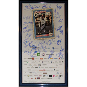 2015 Joe Carter Classic Golf Tournament Framed Poster - Signed by 32 Athletes & Celebrities - Wayne Gretzky, Dan Marino & Emmitt Smith Included