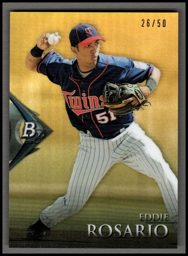 Photo of 2014 Bowman Platinum Chrome Prospects Gold Refractors #BPCP36 Eddie Rosario
