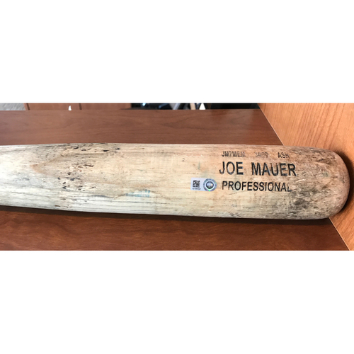 Photo of Joe Mauer 2016 Game-Used Bat