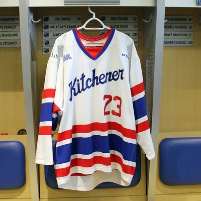 #23 Adam Mascherin 2016-17 Warm-up Jersey