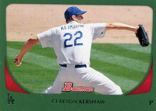 Photo of 2011 Bowman Green #65 Clayton Kershaw 125/450 -- Dodgers post-season
