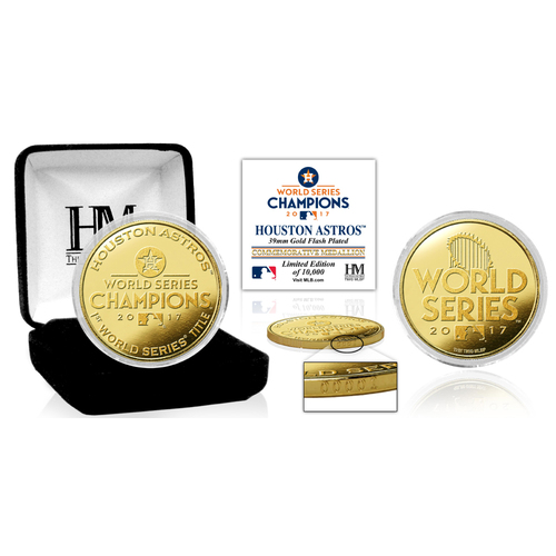 Serial #1! Houston Astros 2017 World Series Champions Gold Mint Coin