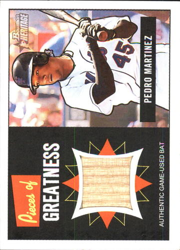 Photo of 2005 Bowman Heritage Pieces of Greatness Relics #PM Pedro Martinez Bat B