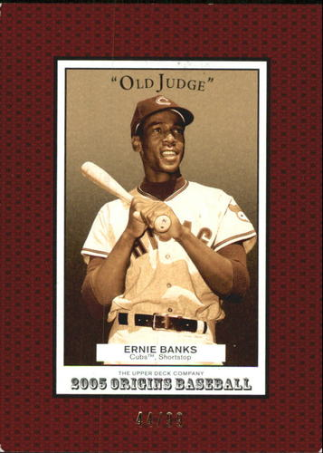 Photo of 2005 Origins Old Judge Red #118 Ernie Banks RET