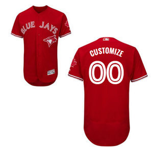 Toronto Blue Jays Customizable Men's Authentic Flex Base Alternate Red Jersey