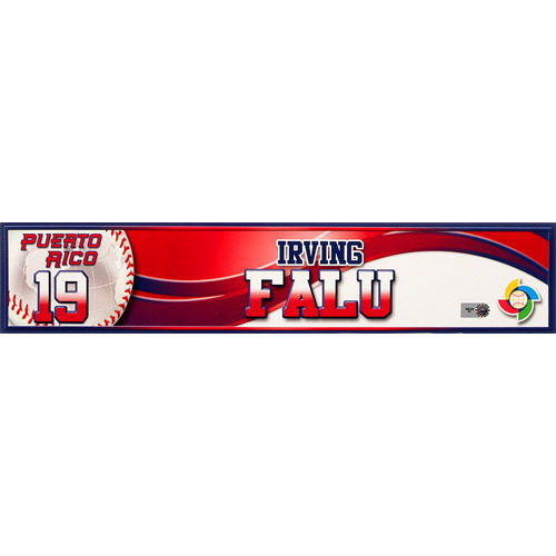 Photo of 2013 World Baseball Classic: Irving Falu (PR) Game-Used Locker Name Plate