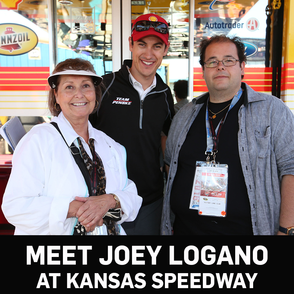Meet Joey Logano at Kansas Speedway!