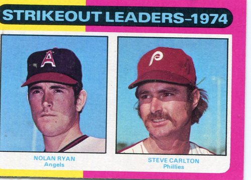 Photo of 1975 Topps #312 Strikeout Leaders/Nolan Ryan/Steve Carlton