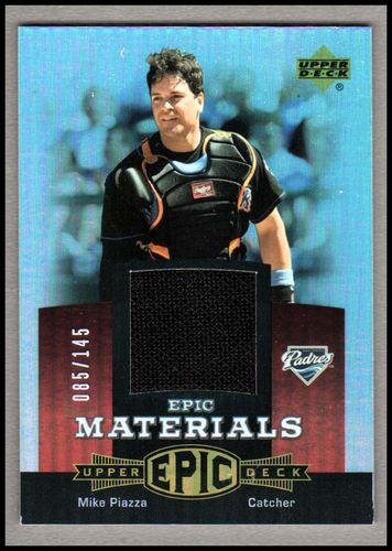 Photo of 2006 Upper Deck Epic Materials Red #MP2 Mike Piazza Jsy/145