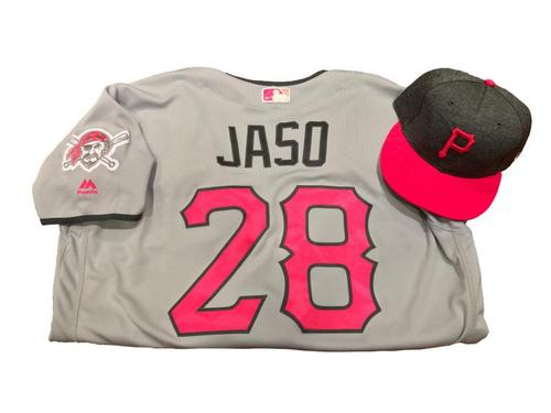 Photo of John Jaso Game-Used Mother's Day Jersey and Hat