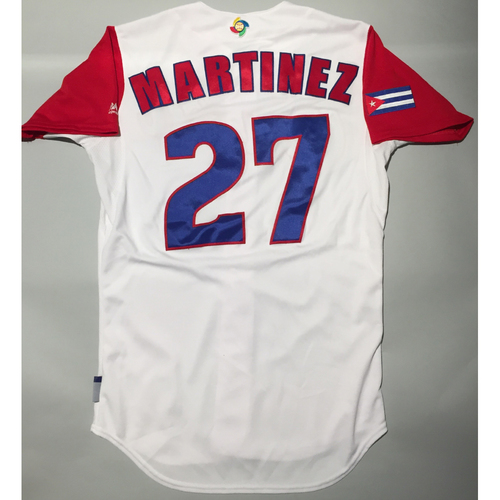 Photo of 2017 WBC: Cuba Game-Used Home Jersey, Martinez #27