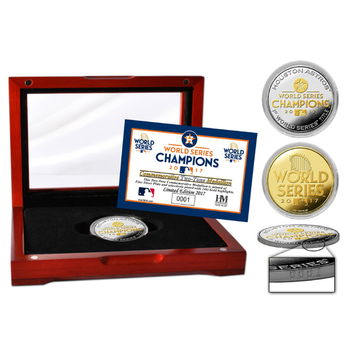 Serial #1! Houston Astros 2017 World Series Champions Official Two-Tone Mint Coin