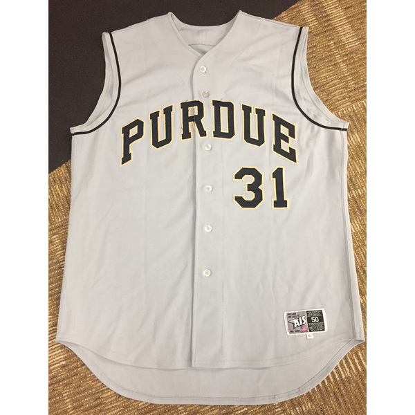 Purdue Baseball #31 Custom Gray Game-Worn Jersey