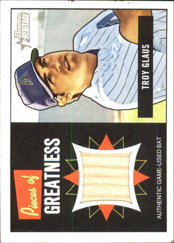 Photo of 2005 Bowman Heritage Pieces of Greatness Relics #TG Troy Glaus Bat B
