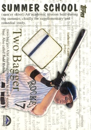 Photo of 2002 Topps Summer School Two Bagger Relics #2BTH Todd Helton Jsy A