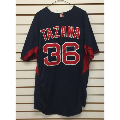 Photo of Junichi Tazawa Team-Issued Road Batting Practice Jersey